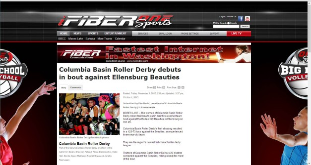 Fiber One News >> Cbrd In The News Columbia Basin Roller Derby